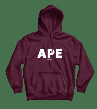 Ape Hoodie Burgundy