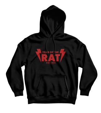 Year of the Rat Hoodie Black