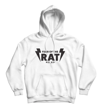 Year of the Rat Hoodie White
